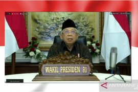 Wapres Ma'ruf Amin dorong UMK jadi bagian rantai nilai industri halal global