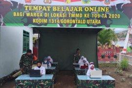 Satgas TMMD siapkan fasilitas belajar daring di Atinggola