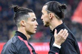 Zlatan Ibrahimovic dinilai lebih berpengaruh dibanding Ronaldo di Italia
