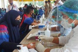 Ratusan pemuda dan insan olahraga di Tebing Tinggi ikuti rapid tes