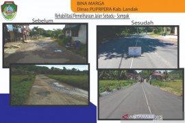 Kabupaten Landak selesaikan rehabilitasi jalan Sebadu-Sompak