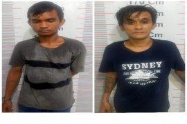 Polsek Kuala Langkat tangkap dua pemakai sabu-sabu