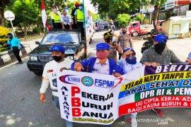 Kapolresta Banjarmasin apresiasi unjuk rasa buruh berjalan kondusif