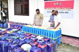 Polres Kepulauan Aru sita 3,6 ton miras tradisional di Dobo