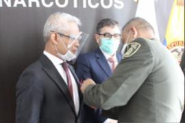 Dubes RI menerima penghargaan anti-narkoba dari Kepolisian Kolombia