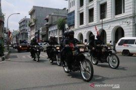 Brimob gencar patroli pastikan penerapan protokol kesehatan  di Medan