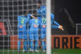 Liga Prancis - Gol  Leonardo Balerdi antar Marseille atasi Lorient