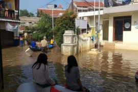 Tiga dusun di Ciparay Kabupaten Bandung terendam banjir akibat hujan