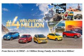 Tata Motors merayakan produksi 4 juta mobil
