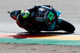Franco Morbidelli kalahkan duet Suzuki untuk juarai motoGP Teruel