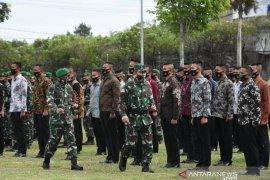 Pimpin apel gelar pasukan Kunker RI-1, Pangdam BB: Terapkan prokes 3M