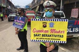 Polres Bengkayang gencar kampanyekan penggunaan masker