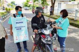 Jasa Raharja-Satgas Bencana BUMN Babel bagikan 2.500 masker gratis