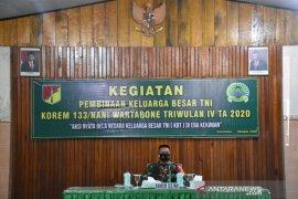 Korem 133 Gelar Komsos Pembinaan Keluarga Besar TNI