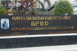 Antisipasi bencana, BPBD Lebak tebang pohon yang rawan tumbang saat hujan deras