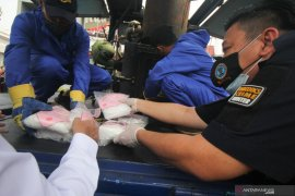 79 kilogram sabu-sabu asal Malaysia dimusnahkan