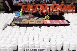 Ringkus enam tersangka kasus narkoba, Polresta Malang Kota sita 6,5 kg ganja