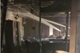 Satu rungan di gedung DPRD Kaltim terbakar