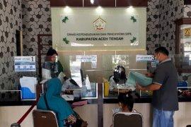 Meski libur, Disdukcapil Aceh Tengah tetap layani masyarakat