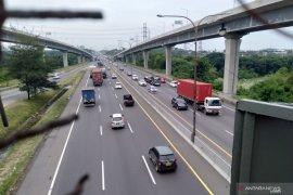 Polri: Arus lalu lintas tol Jakarta-Cikampek lancar pada Kamis malam