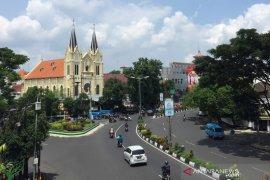 Sejumlah ruas jalan ditutup saat pembangunan kawasan Malang Heritage