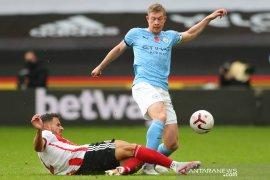Liga Inggris: Kevin de Bruyne gagal konversi penalti, City vs Liverpool imbang
