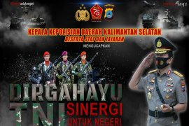 Kapolda Kalsel Irjen Pol Nico Afinta ucapkan selamat HUT TNI
