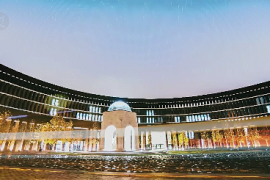 Pemandangan indah Universitas Tianjin