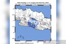 Gempa berkekuatan 4 magnitudo guncang Kabupaten Bandung