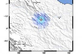 BMKG sebut gempa di Batanghari dipicu patahan lokal
