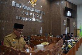 Pemkab Deliserdang sampaikan tiga rancangan  Renperda ke DPRD