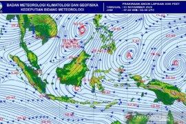 BBMKG: Siklon tropis Goni sebabkan  wilayah di Sumut hujan