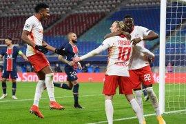 RB Leipzig menang 2-1 atas sembilan pemain PSG