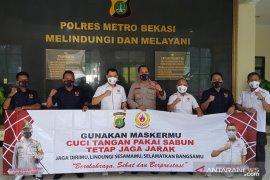 Polres Metro Bekasi terima bantuan 3.000 masker