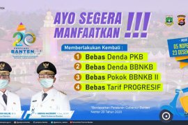 Banten bebaskan denda pajak kendaraan hingga akhir 2020