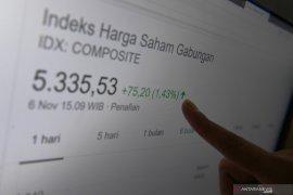 IHSG Kamis dibuka menguat 19,34 poin ke posisi 5.833,32