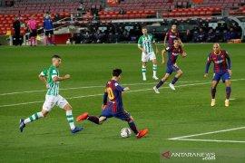 Gol non-penalti pertama Lionel Messi warnai kemenangan Barcelona atas Betis