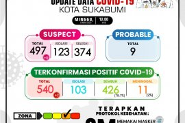 Sepekan kasus COVID-19 di Kota Sukabumi tambah 64 orang