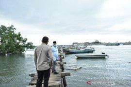 Gubernur Babel tinjau pembangunan pelabuhan kapal roro di Pulau Lepar