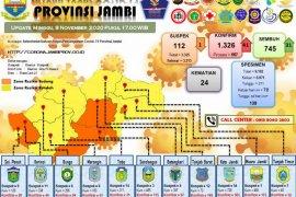 Sebanyak 745 pasien di Jambi sembuh dari COVID-19