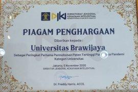 Universitas Brawijaya menjadi kampus ajukan paten terbanyak selama pandemi