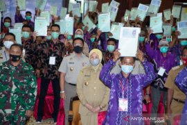 Bupati hadiri penyerahan sertifikat tanah secara virtual dari Presiden