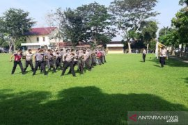 Polresta Deli Serdang gelar latihan dalmas jelang Pilkada