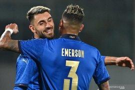 Grifo mengukir dwigol saat Italia menang 4-0 atas Estonia