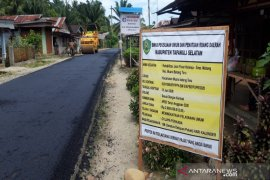 Kondisi Jalan Batang Toru-Muara Batang Toru 84 persen sudah hotmix