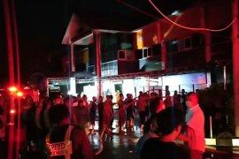 Ruang loket pelayanan STNK Ditlantas RTMC Polda Jatim terbakar
