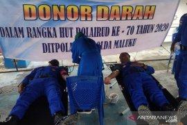 Donor darah Ditpolair Polda Maluku diharapkan bermanfaat bagi masyarakat