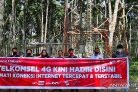 Telkomsel Hadirkan Jaringan Broadband di Desa Rantau Atas
