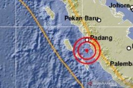 Gempa  tektonik bermagnitudo 5,3 guncang Pesisir Selatan Sumbar