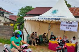 Satgas COVID-19 Kapuas Hulu mendirikan posko di pasar Putussibau